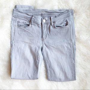 Ann Taylor LOFT Gray Super Skinny Cropped Jeans